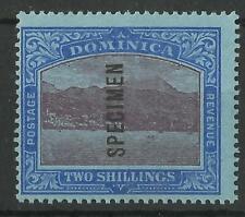 DOMINICA 1908-20 KGV 2/- SPECIMEN SG 53bs MINT