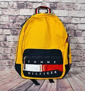 NWT UNISEX TOMMY HILFIGER BLUE/YELLOW FLAG LOGO BACKPACK 69J2370-700