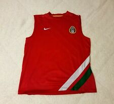Vintage Nike Mexico Tri Color Sleeveless Red Soccer Jersey Men's Size Medium