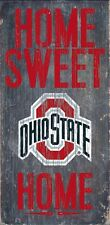 Ohio State Buckeyes Home Sweet Home Wood Sign [NEW] OSU NCAA Man Cave Den Wall