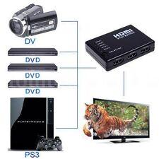 5 Port 1080P Video HDMI Switch Switcher Splitter for HDTV PS3 DVD + IR ST