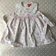 Bunnykins Royal Doulton Target baby girl size 0 VGUC smocked dress embroidery