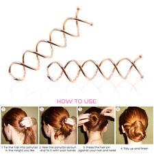 10 Pcs Spiral Twist Hair Pins Spin Clips Bun Stick Pick for DIY Hair Style DIY