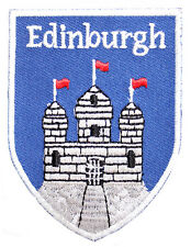 Scottish Edinburgh Castle Shield Embroidered Sew-on Cloth Patch Appliqué