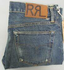 RRL RALPH LAUREN Straight Leg Japan Woven Selvedge Button Fly Jean 34 No. 01B-SL
