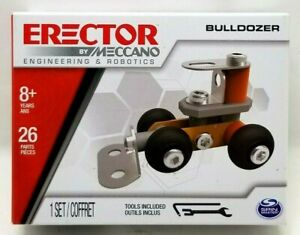 Erector Meccano Engineering & Robotics 2018 Small Orange Bulldozer New  (Z4)