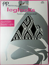 Pretty Polly Medium to Large Size Diamond Pattern Fishnet Hold-ups Stockings
