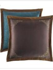 Croscill Zarina Reversible Embroidered European Pillow Sham Gold Brown Teal