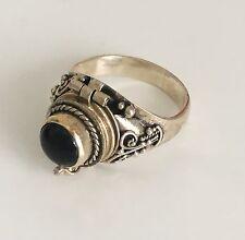 Women's Sterling Silver Poison Locket Ring Size 7