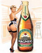 10 x 8 MAGNERS CIDER SEXY PIN UP GIRL PUB BAR MAN CAVE METAL PLAQUE TIN SIGN 570