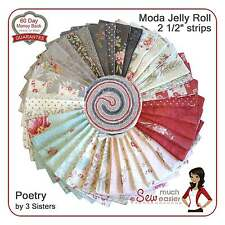 Moda Jelly Roll Poetry 3 Sisters Fabric floral shabby-chic vintage Paris French