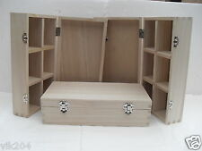 2 X GIFT BOXES WOODEN MEDIUM PLAIN -MULTI USES ART AND CRAFT DECORATE YOUR OWN