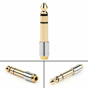 "6.35mm 1/4"" Male Plug To 3.5mm 1/8"" Female Stereo Headphone Jack Audio AdapterS"