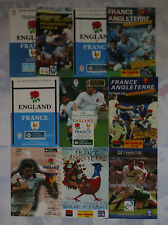 More details for england v france rugby programmes 1989 to 1993 & 1995 to 1999 good+ condition