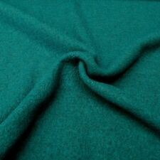Boiled Wool Viscose Blend - Petrol Blue/Green - 40% Wool, 60% Viscose Half Metre