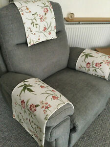 Chair Back Arm Cover Slip Antimacassar x 1 Sofa Armchair Gorgeous Flora Country