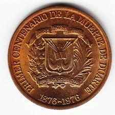 DOMINICAN REPUBLIC 1 c 1976 KM40 Br Duarte 100th Ann.of Death TOP GRADE - RARE !