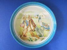 "c.1980 RARE Beatrix Potter England ~ JEMIMA PUDDLE DUCK ~ Vintage 12"" Tin Plate"