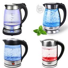 Grafner® Wasserkocher Glas Edelstahl Temperaturwahl und Warmhaltefunktion LED