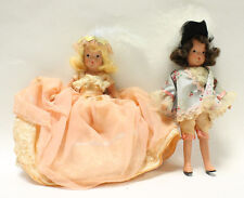 """2 Nancy Ann Wee Dolls """"Prince Souci"""" and Princess Minon Minette"""" Storybook Doll"""