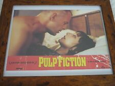 Pulp fiction Butch in bed European Lobby card over sized original Quality framed