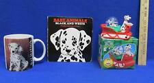 Disney 101 Dalmations Snow Globe Dog Sled Ceramic Mug Baby Animal Book Lot of 3