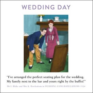 Wedding Day Funny Drama Queen Greeting Card Retro Humour Cards