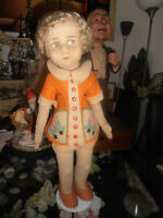 Antikes Lenci / Raynal Mädchen,  ca. 50 cm in Originalkleidung