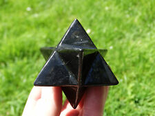 AA SHUNGITE MERKABA~ TOP GRADE  !! ~ ***NEW*** !! 5.5 cms ~ ~ LOVELY !