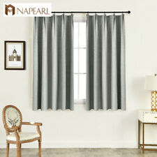 NAPEARL 1 Panel Short Living Room Curtain Solid Window Treatment Blackout Drapes