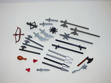 Lego 2x minifig arme weapon hache axe head viking rouge trans red 53705 NEUF