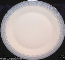"ROYAL DOULTON H5033 LORRAINE DINNER PLATE 10 5/8"" BLUE DOTS, FLOWERS & SCROLLS"