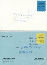 2 x Echt gelopen Stadspost Pesie's Den Helder 1979