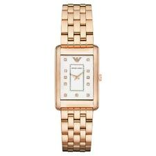**NEW** LADIES EMPORIO ARMANI SLIM DIAMOND ROSE GOLD WATCH - AR1906 - RRP £299