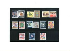 """RYUKYUS, 1959-72, """"NEW YEAR GREETING"""" 15 STAMPS MINT NH, FRESH IN GOOD CONDITION"""