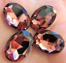 18mm x 25mm Faceted Oval Glass Chaton Crystals Fancy Cabochons Amethyst 1pcs