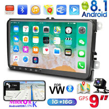 "9"" Car Stereo Radio For Vw Jetta Passat Golf Gps HeadUnit Navigation Android 8.1"