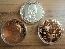 """Münzen Set """"60 Jahre BRD"""", Cu vergoldet bzw. Feinsilber, 3 Münzen + Urkunde"""