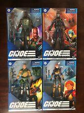 GI JOE Classified Series Lot - Duke, Cobra Commander, Scarlett, Roadblock - NIB
