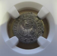 1849 JB Costa Rica 1/2 Real Silver Coin KM#68 Countermark Central American Rep.