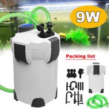 2000L/h Aquarium External Canister Filter Fish Tank Pump + Pipe 9W UV Sterilizer