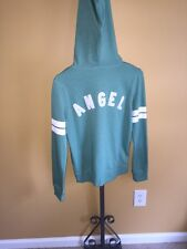 "NWT Victoria's Secret Super Model Zip Up Hoodie Fleece Lined Green ""Angel"" SZ XS"
