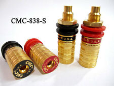 4Pcs CMC-838-S Gold Plated Amplifier Speaker Terminal Binding Post Socket