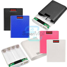 DIY Power Bank Case 4X 18650 USB Battery Charger Box For iPhone Samsung 12000mAh