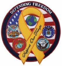 "Defending Freedom w/Ribbon Patch - 5"" Circle"