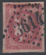 """FRANCE STAMP TIMBRE N° 49 """" CERES BORDEAUX 80c ROSE 1870 """" OBLITERE GC 3614 TTB"""