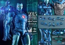 Hot Toys 1/6 Scale Iron Man Mark 3 III Stealth & Iron Man Silver Centurion Set