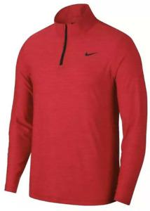 Nike Breathe DRI-FIT  1/4 Zip Long Sleeve Training Shirt Men's Red 940177 Size L