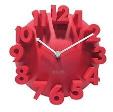 Tobson New Modern 3D Unique Creative Wall Square Clock Home Decor Decoration Red