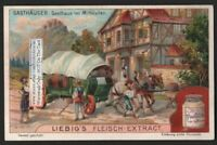 Inn From The Middle Ages Gasthaus Im Mittelalter  1905 Trade Ad Card g